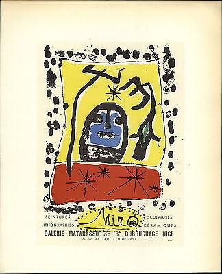 1959 Mini Poster Lithograph ORIGINAL Print Matisse Les Peintres Temoins de leur