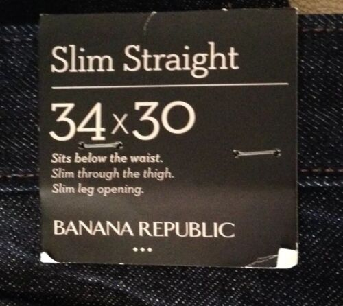X Republic 34 L Jeans Indigo Jeans W G118 30 Nwt Banana Slim Leg 0tzqO1x