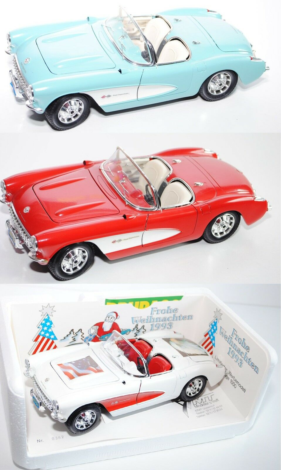 Bburago 3024 Chevrolet Corvette (1957), avec Pilotage, 1 18