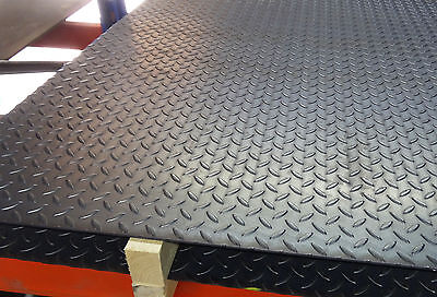 4.5mm TREAD Plate Durbar Floor mild steel checker - custom cut to size for free