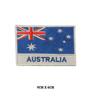 Australia National Flag Embroidered Patch Iron on Sew On Badge For Clothe etc