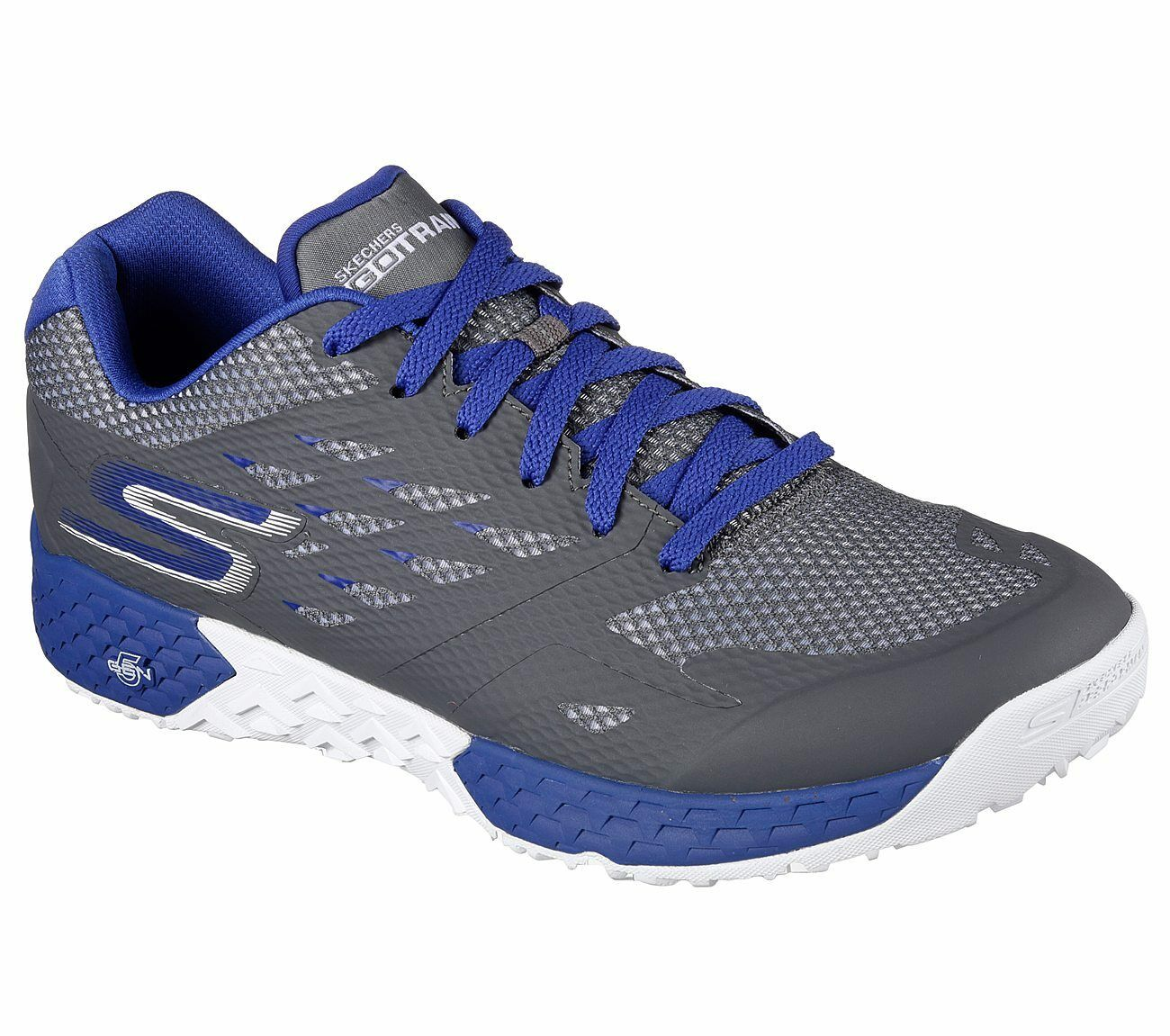 Nuova Uomo skechers skechers skechers gotrain resistenza scarpa stile 54122 carbone / blue 110y dott. 28b44a