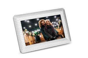 Polaroid-PDF-750ST-Digital-Photo-Frame-with-Decorative-Textured-Silver-Metal