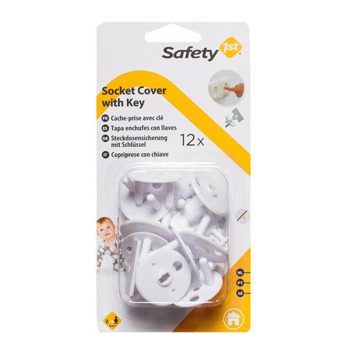 Steckdosensicherung Kindersicherung 12 Stück mit Schlüssel