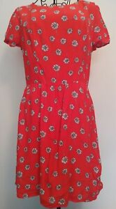 TOPSHOP-ditsy-Floral-Print-Dress-Size-12-Holiday-Summer-Casual-Wedding