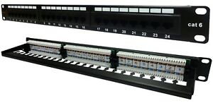 24-Way-Cat6-Patch-Panel-1u-Networking-Ethernet-Rack-Data-Server-Cabinet-Comms