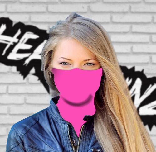 FACE MASK BANDANA HOT PINK Gym, Cycling, Yoga, Fishing, Ski, Motorbike