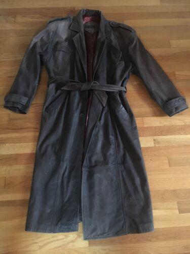 Leather Jacket Trenchcoat Men's Medium Mirage Genu