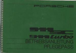 PORSCHE-911-SC-911-Turbo-Betriebsanleitung-1982-Bedienungsanleitung-Handbuch-BA