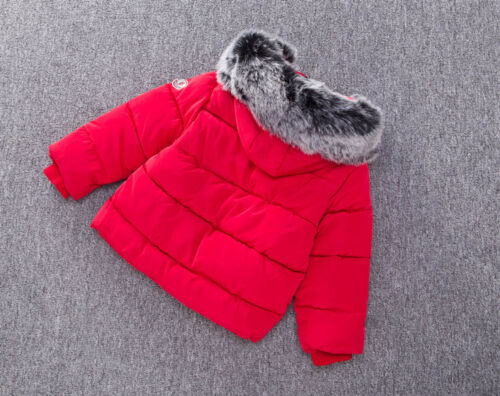 Kids Girls Boys Coat Thick Parka Winter Warm Outwear Hooded Down Jacket Coats