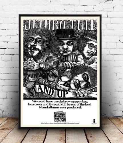 Reproduction. Poster vintage music Album advertising Wall art Jethro Tull