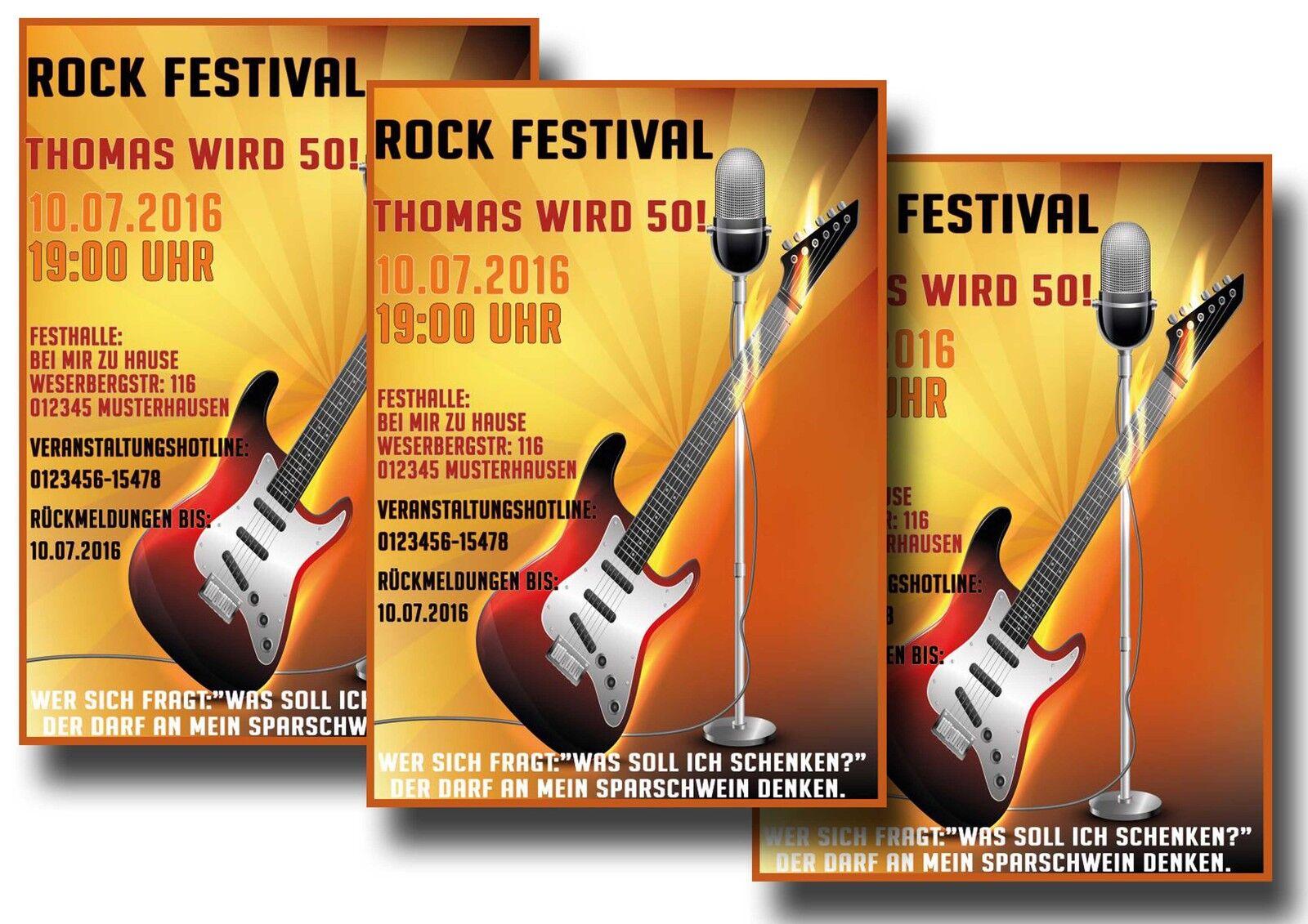 Biglietto concerto concertazione BIGLIETTO INVITO FESTA COMPLEANNO cartolina cartolina cartolina invito 30 40 50 25c050