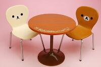 Re-ment San-x Rilakkuma Miniature Cafe Table & Chair Set (0084) 3pcs In A Box