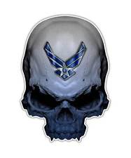 2 Skull Decal - Air Force Skull Sticker Military USA laptop ipad kindle decals