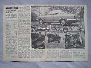 1969-Subeam-Alpine-Original-Autocar-magazine-Road-test