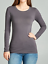 Basic-Long-Sleeve-Solid-Top-Womens-Plain-Cotton-T-Shirt-Stretch-Tight-Crew-Neck thumbnail 22