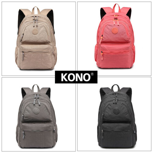 Uniex Water Resistant Large Backpack Shoulder School Travel Bag Nylon Rucksack