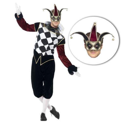Filligree Masque Adultes Homme Vintage vénitien arlequin Jester Costume Halloween