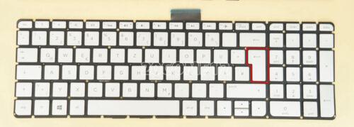 New For HP ENVY M7-N000 Keyboard German Tastatur Backlit Silver no frmae