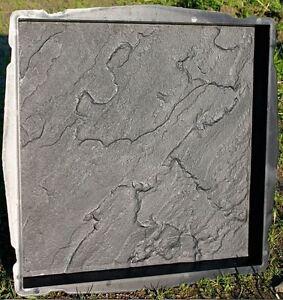 Moule pour fabrication pour dalle de terrasse ou allée façon ardoise 45  x 45 cm
