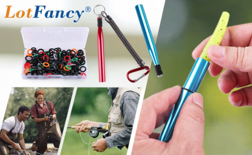"Wacky Rig O-Ring O rings Worm Fishing Tool for Stick Baits 3 4/'/' 5/""/& 6/"" Senkos"