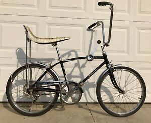 1967 SCHWINN STINGRAY FASTBACK BLACK BICYCLE, DEC 1967, OLD 5 SPEED MUSCLE BIKE