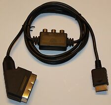TRUE RGB CABLE THAT FIT PLAYSTATION 1 & 2 & 3 SCART VIDEO LEAD CABLE SONY NEW