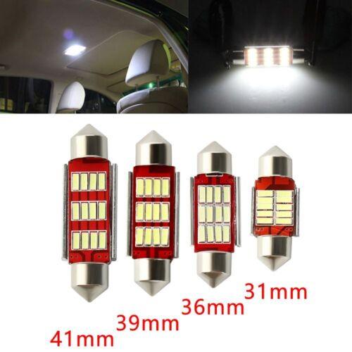 2Pcs 4014 12SMD C5W LED Light Canbus Festoon Dome Car Interior Reading Lamp