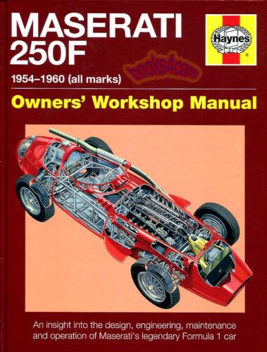 MASERATI 250F BOOK HAYNES MANUAL RACING