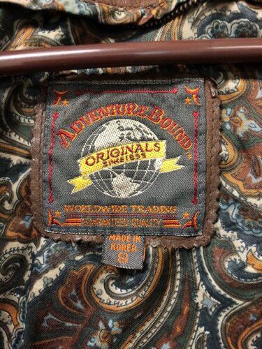 S Sz Kvinders Originals Jakke Brun Læder Vintage Adventure Bound qzOz80