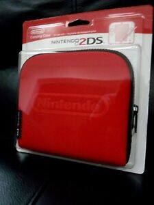 New-Sealed-Official-Nintendo-2DS-Console-Carrying-Travel-Case-Red