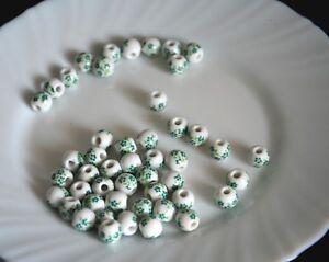 un lote de 20 cuentas cerámica-bola de cerámica 10mm-con flores-DIY bisutería kSfS5V8V-09101257-926655837