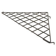 "24"" X 24"" Triangular Gridwall Shelf Black Box Of 3 - Work With All Grid Panels"