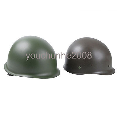 WWII US ARMY M1 GREEN HELMET -33556
