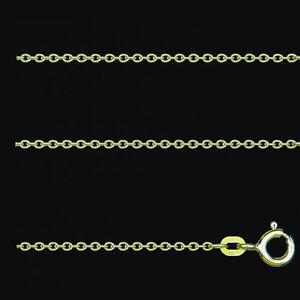 Juwelier Rund Anker Kette Stärke 1,3 mm aus Echt Gold 585 (14 Kt) Gelbgold Neu