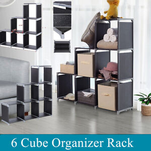 Multifunctional-6-Cube-Organizer-Shelf-Cubby-Closet-Bookcase-Storage-Save-Spave