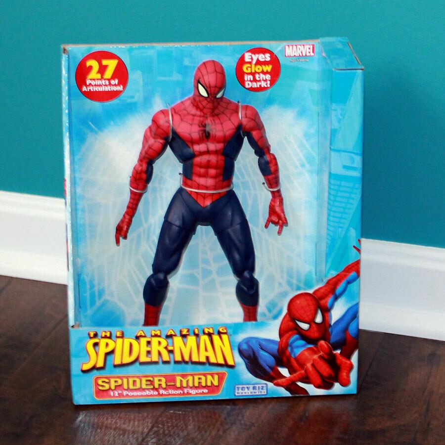 förundras Spindelmannen Posable Figur 27 Points konsticulation Eyes Glåg NY i låda