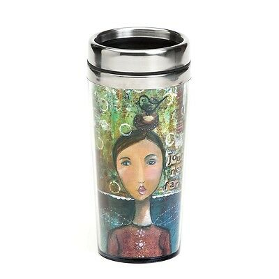 Demdaco The Kelly Rae Roberts Collection Brave Girl Insulated Travel Mug