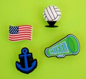 Crocs-Jibbitz-Charms-3-D-Volleyball-Anchor-Flag-Megaphone-ALL-4-for-8-99-NEW