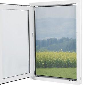 EASYmaxx Fenster Moskitonetz Magnetbefestigung 150x130cm Schwarz Fliegengitter