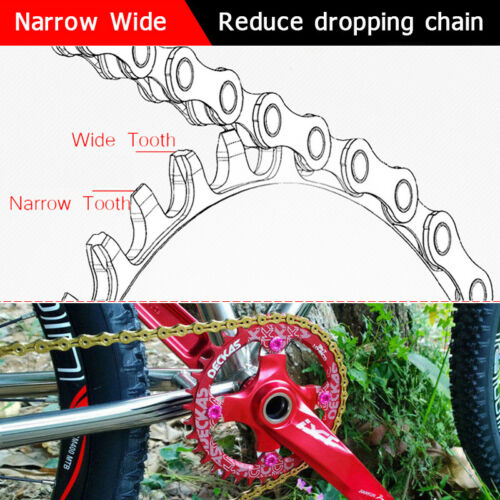 UK DECKAS 104mm CNC 32-52T Round//Oval MTB Bike Chainset Crank Chainring Bolts