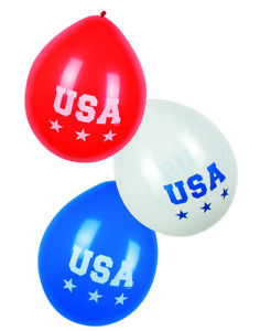 6-USA-RED-WHITE-amp-BLUE-LATEX-BALLOONS-AMERICAN-PARTY-DECORATION