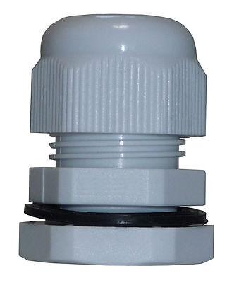 PG16 Kabelverschraubung mit Gegenmutter Kunststoff grau JSPG16KVS-G