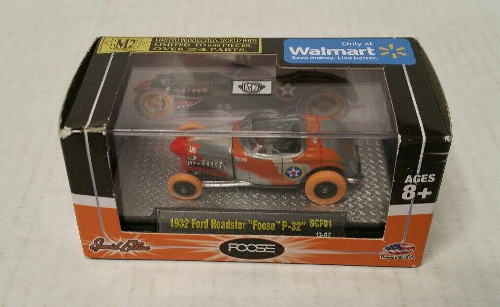 bajo precio Foose Design Design Design Raro M2 máquinas 1932 Ford Roadster P-32 Raw súper Chase Walmart  barato y de alta calidad