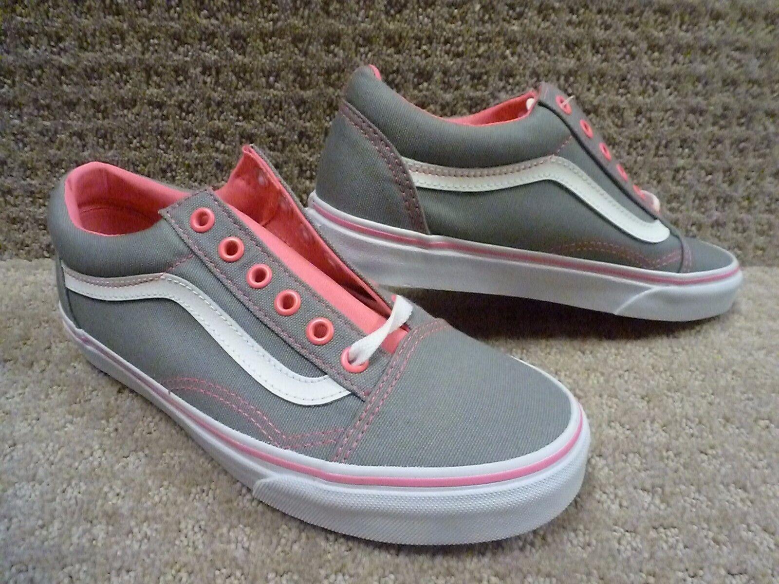 Vans Men's shoes  Old Skool  (Canvas) Frstgry NnPnkPop -Frost Grey Pink