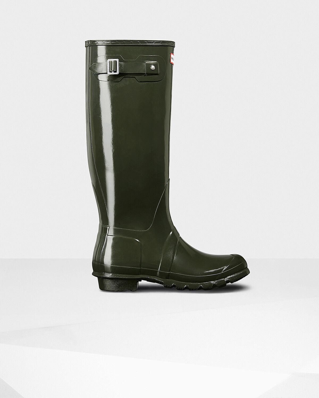 femmes Hunter Original Tall Gloss Winter Wellington Snow Muck Yard Rain bottes