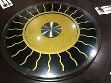 LAZY SUSAN SUZY GLASS AND CERAMIC BASE FOR TABLE TOP GOOD WORKING CONDITION