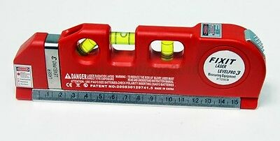 Laser Guide Leveler Straight Project Line Measuring Rulers Tools Tape Measures