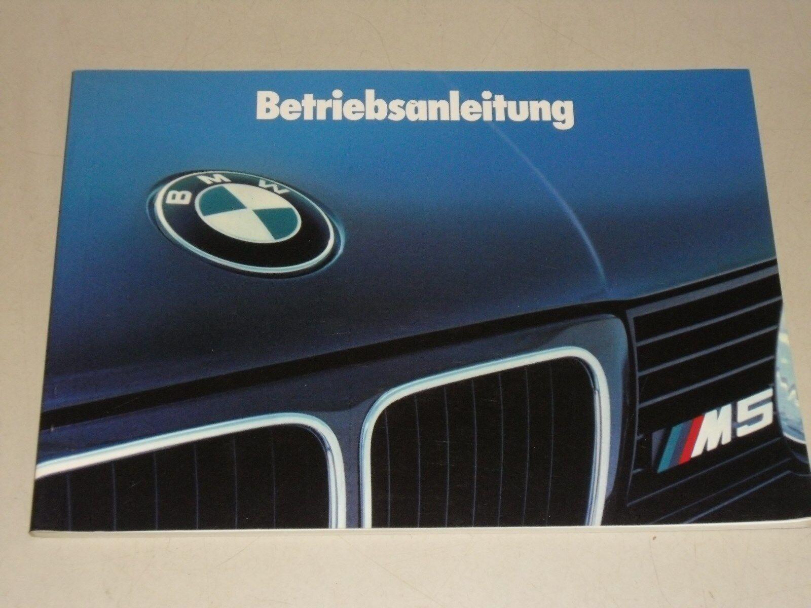 Operating Instructions Handbook BMW Motorsport 5er Reihe E34 M5, Stand 08 1990