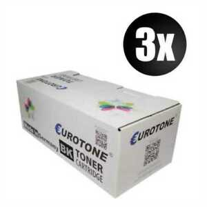 3x Eco Eurotone Toner Black For Canon GP 550 555 With Per Approx. 33.000 Pages